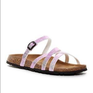 Betula Birkenstock Pink Cross Strap Sandals
